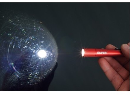 Led light lazer torch swirl finder red