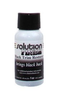 Solution Finish Black Trim Restorer 1oz